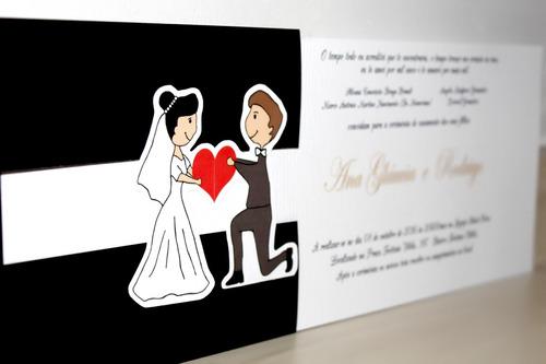 convites de casamento - encontro black - (20 unidades)