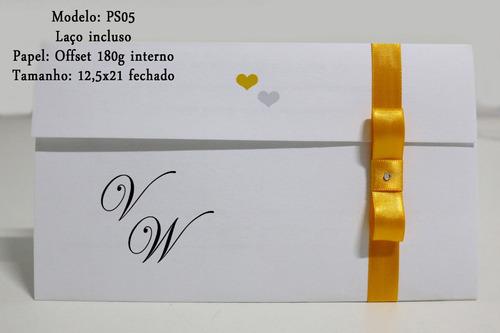 convites de casamento promoção com brinde 20 un.  ps04