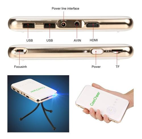 coocheer proyector de bolsillo ultrafino de wifi wifi con tr