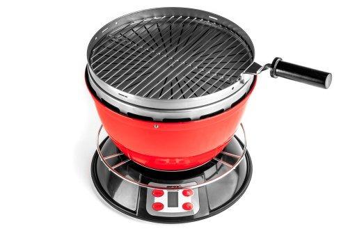 cook-aire ep rd parrilla de leña portátil, rojo