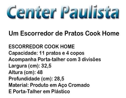 cook home escorredor de pratos copos talheres arthi 1488
