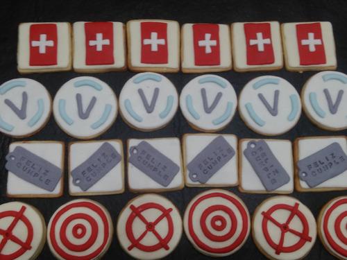 cookies decoradas galletitas x12 video juegos guerra zombies