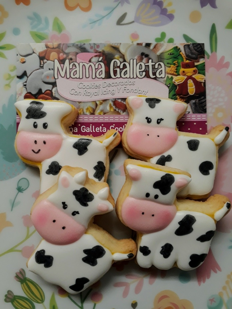 Cookies Galletas Decoradas Glasé Granja Animales X 15