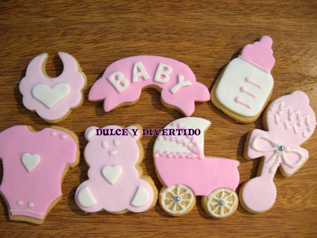 Cookies Galletitas Decoradas Baby Shower Nacim X Docena