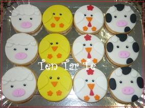 Cookies Galletitas Decoradas Granja Minions X 12 Unidades