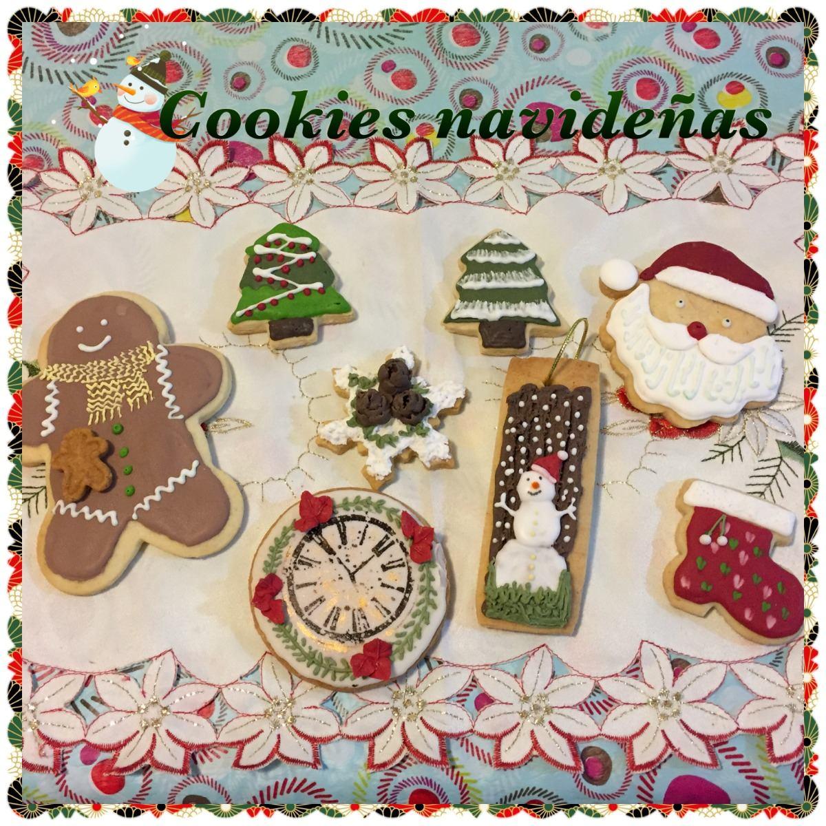 Cookies Galletitas Decoradas Navideñas Para Regalar