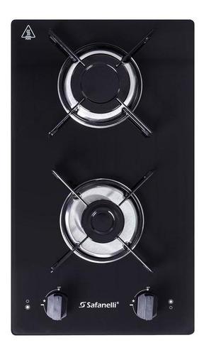 cooktop 2 bocas safanelli preto a gás glp superautomático