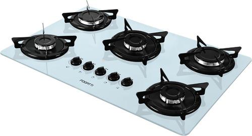 cooktop 5 bocas fogatti v500x branco/esmaltado *12x s/juros*