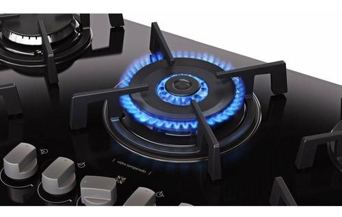 cooktop 5 bocas tripla chama à gás vitrum itatiaia preto
