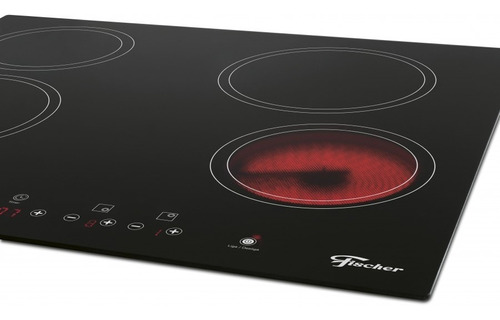 cooktop elétrico fischer 4 bocas touch screen vitro - 220v