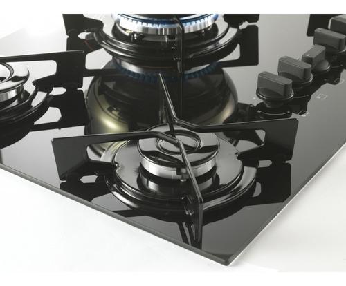 cooktop fischer 5 bocas tripla chama fit line gás mesa vidro