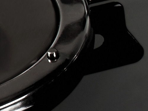 cooktop v400 - 4 bocas. vidro preto, flange esmalt.  fogatti