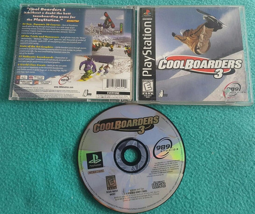 cool boarders 3  - playstation 1 ps1 compatible ps2 ps3