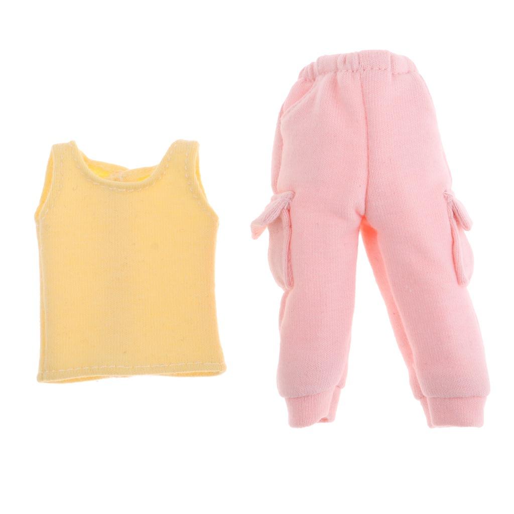 Cool Doll Outfits Chaleco Amarillo Chaleco Pink Pantalones ... bf1c4b79e959
