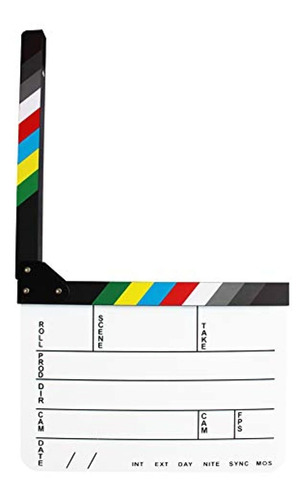 coolbuy112 acrylic film directors clapboard,