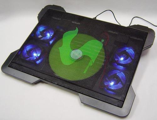 cooler 4 ventilador para laptop base enfriadora