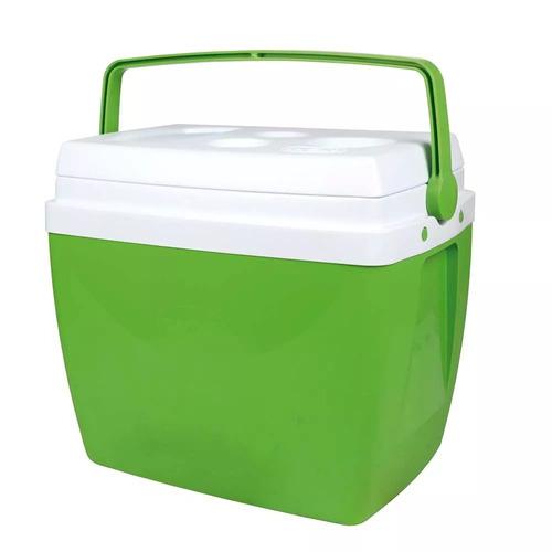 cooler caixa térmica 34l verde c/ alça e porta copos mor