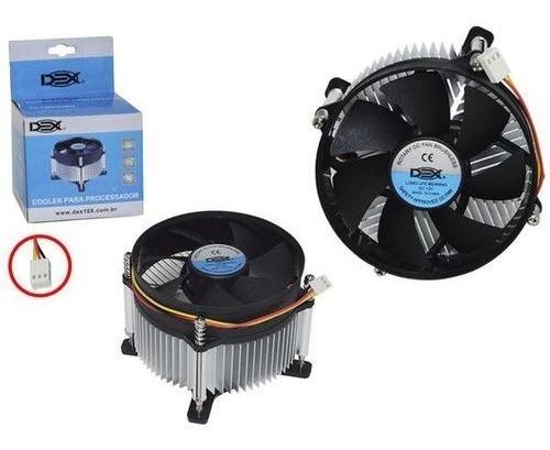 cooler cpu para processadores intel 775 pinos dex dx-775