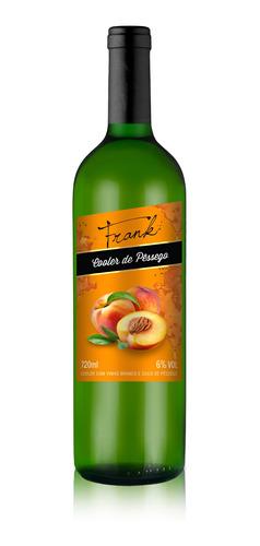 cooler de vinho branco com suco de pêssego 720ml - frank