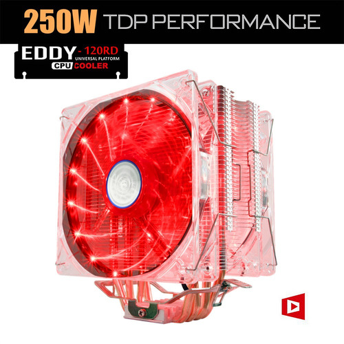 cooler dual alseye 120rd de procesador led silent 27db máx