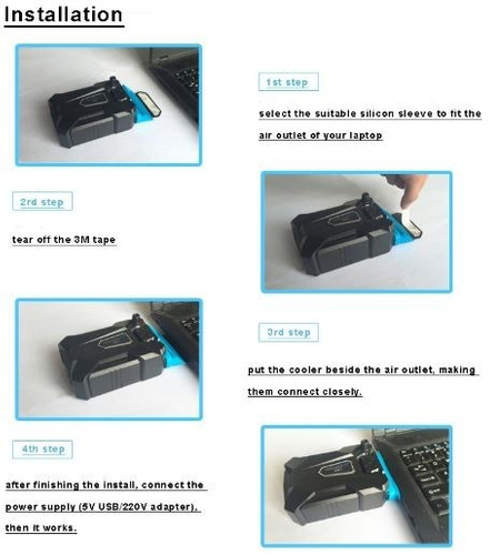 cooler enfriador ventilador aire usb laptop pc gamer juego