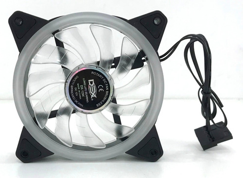 cooler fan 120mm c/18 led rgb dupla face p/ gabinete pc cpu