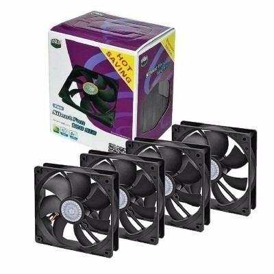cooler fan cooler master ultra silent 120mm kit c/4 unidades