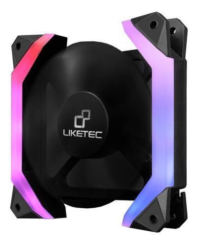 cooler fan fantom led rgb gamer liketec 12x12cm hexagonal