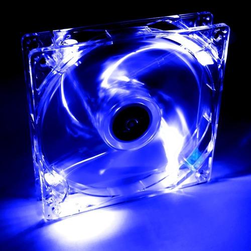 cooler fan led 80mm rgb transparente molex gabinete cpu