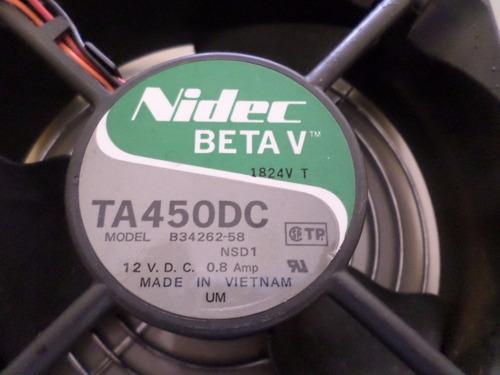 cooler fan nidec beta v-ta450dc-b34262-58-12v-0,8amp
