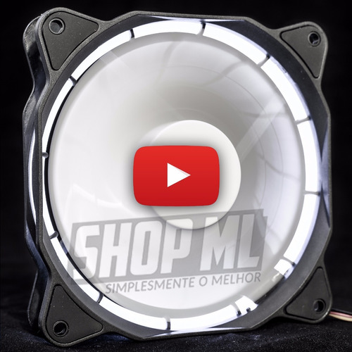 cooler fan pc gamer 120mm led branco ventoinha dx-12f