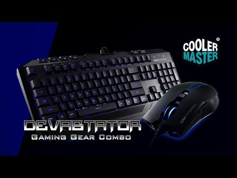 cooler master devastator teclado mouse gamer retroiluminado