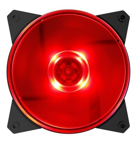 cooler masterfan cooler master - mf120l led vermelho