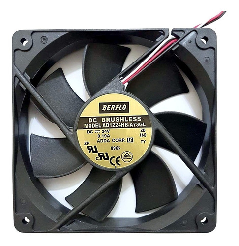 cooler micro ventilador 120x120x25mm 24v 120x120 rolamento duplo
