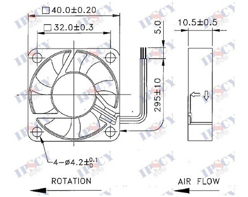 cooler micro ventilador 40x40x10mm 24v 40x40 rolamento duplo