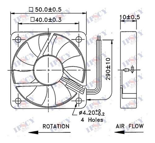 cooler micro ventilador 50x50x10mm 12v 50x50 rolamento duplo