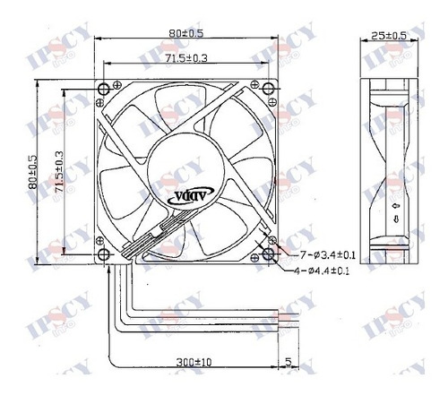 cooler micro ventilador 80x80x25mm 48v 80x80 rolamento duplo