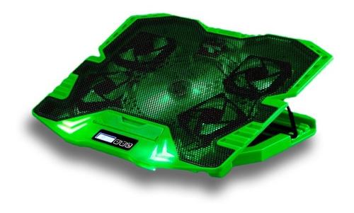cooler notebook warrior gamer verde com led até 17 ac292