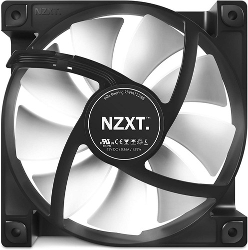 cooler nzxt fn v2 airflow fan rf-fn122-rb 120mm gabinete