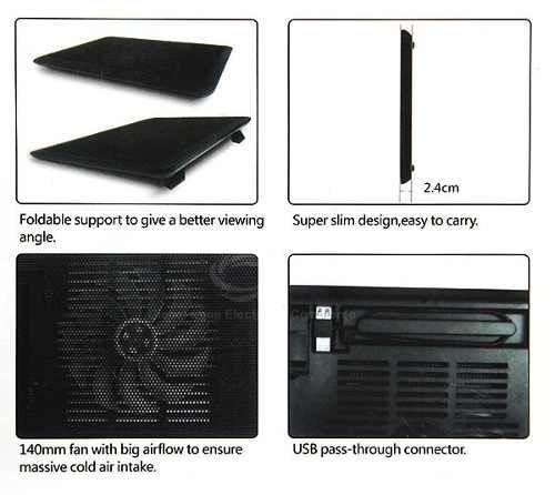 cooler p notebook  silencioso com alta velocidade