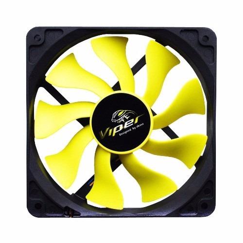 cooler para gabinete 140mm ak-fn063 viper amarelo akasa 1437