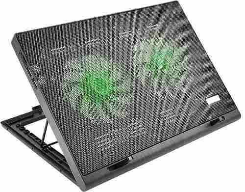 cooler para notebook warrior power gamer led verde ac267 mul