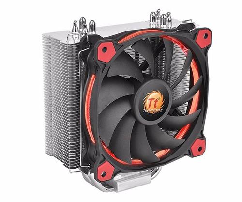 cooler procesador cpu thermaltake riing silent rojo