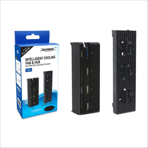 cooler ps4 slim ventiladores + multiplicador hub usb slim