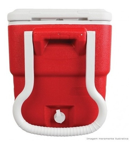 cooler rodinhas caixa termica grande 38 litros rodas coleman