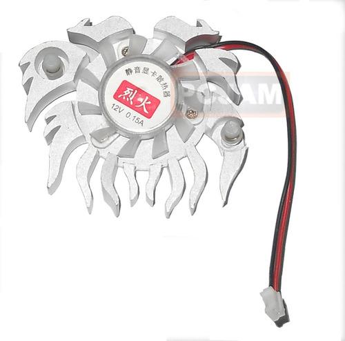 cooler tarjeta de video o chipset con ventilador 12v, 0.15 a