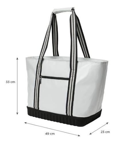 cooler tarpaulin bag blanco doite