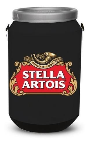 cooler térmico bebidas stella preto cerveja