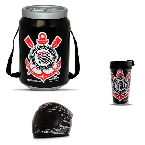 cooler térmico cerveja corinthians mini capacete e copo