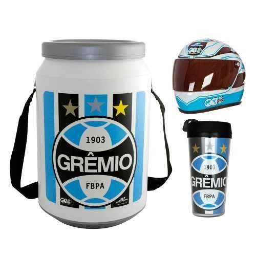 Cooler Térmico Cerveja Grêmio Mini Capacete E Copo Térmico - R  189 ... 2723ec65d5add